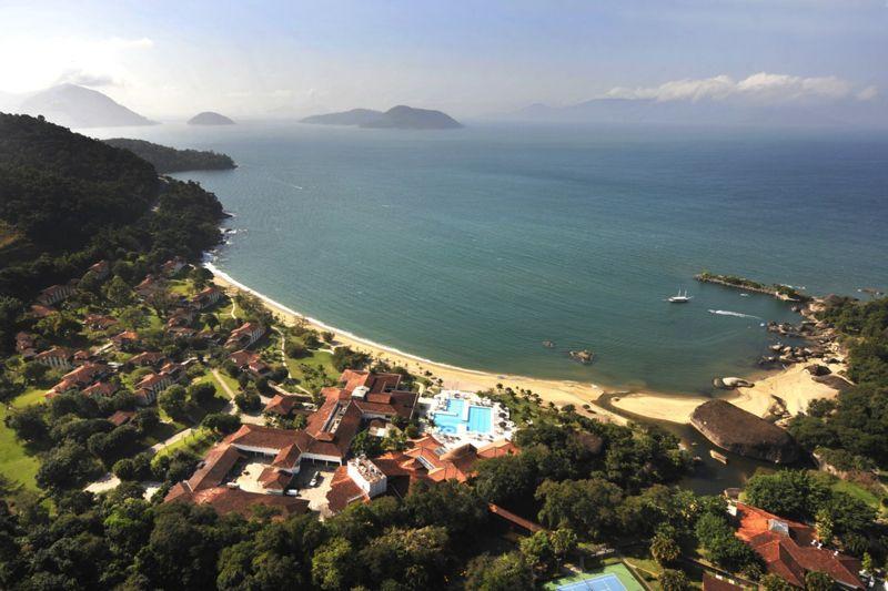 Vista aérea do resort no Rio das Pedras