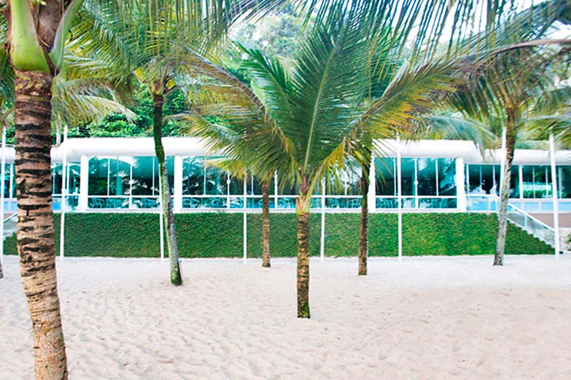 Externa com a fachada do Restaurante Beach Grill