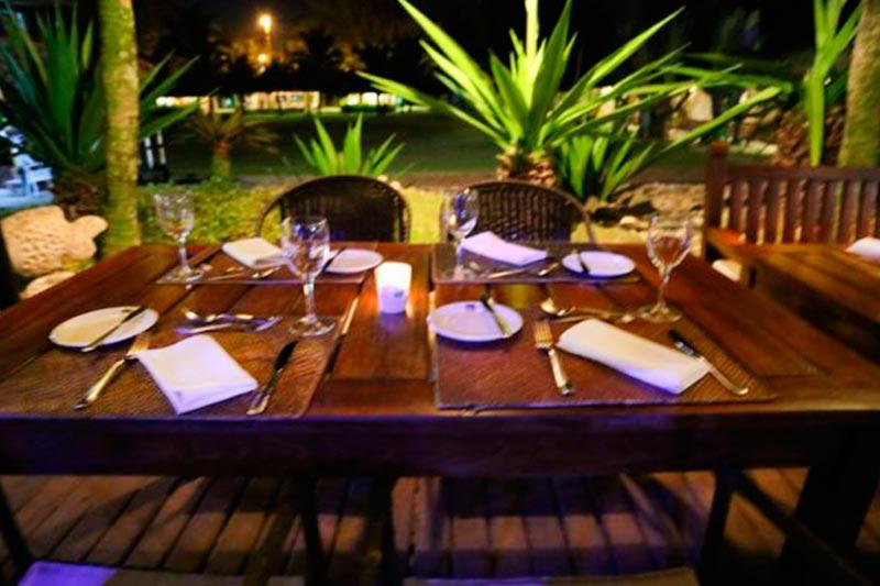 Restaurantes Pérgola detalhes das mesas postas