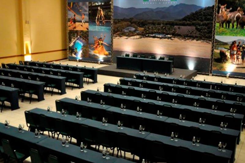 Salões para eventos vista aérea