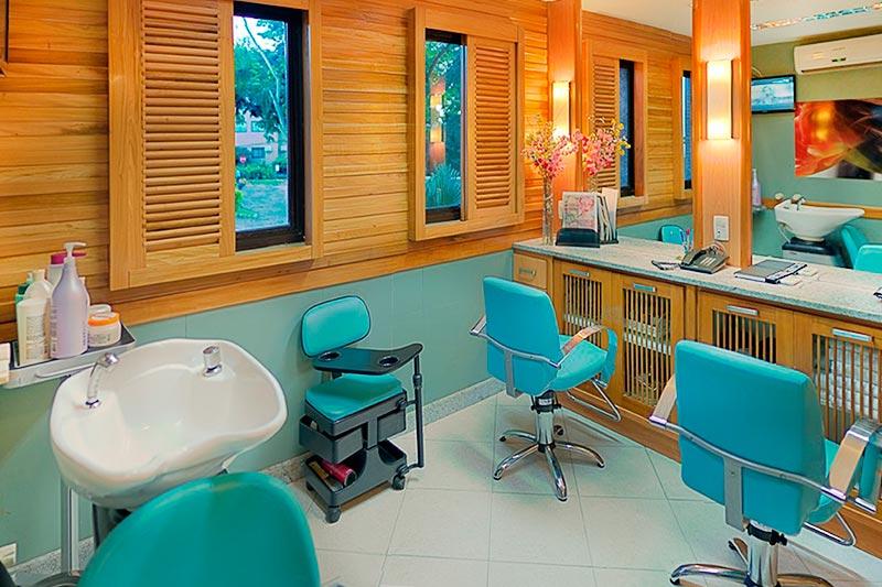 Salão de beleza disponível no complexo