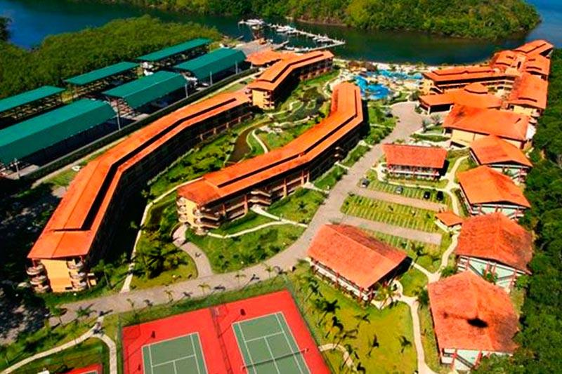 Vista aérea toda estrutura costabella resort